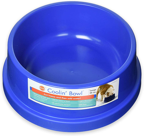 K&H Pet Products Coolin' Water Bowl, Freezable Pet Water Bowl