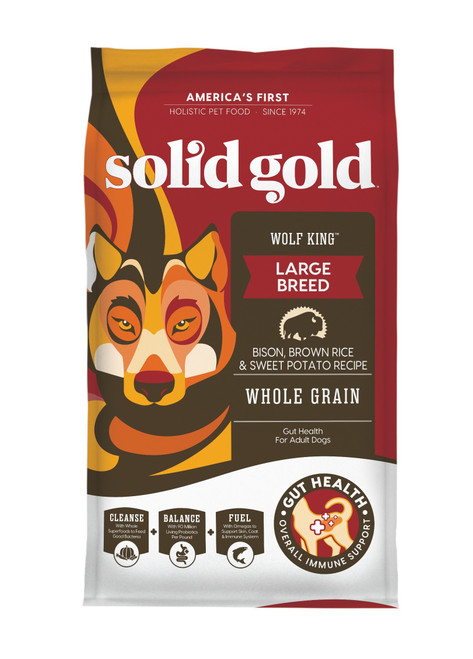 Solid Gold Wolf King Large Breed Bison, 24lb