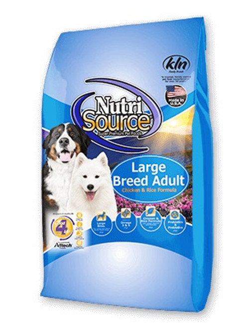 NutriSource Large Breed Adult Chicken & Rice, 30lb