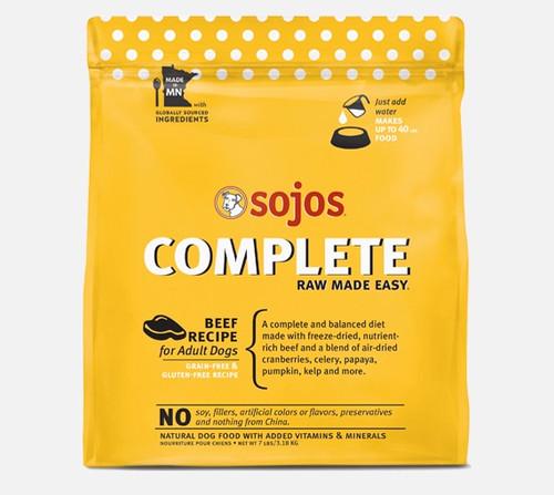 Sojos Complete Dog Food Beef Recipe, 7lb