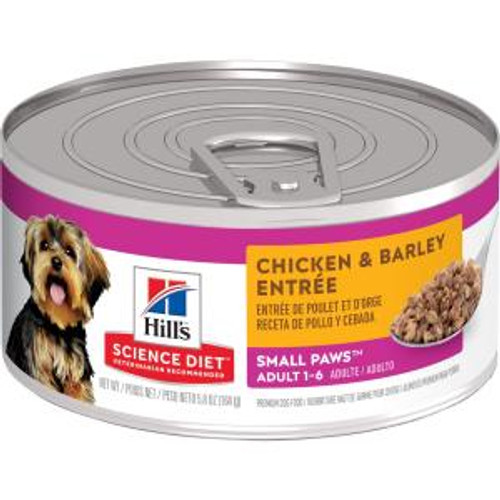 Science Diet Adult Small Paws Chicken & Barley, 5.8oz