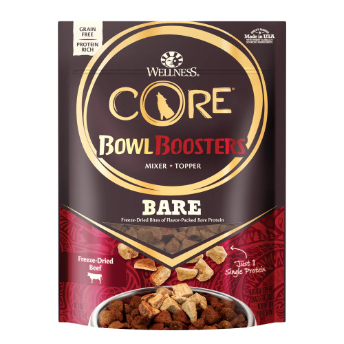 Wellness Core Bowl Boosters Bare 100% Beef, 4oz