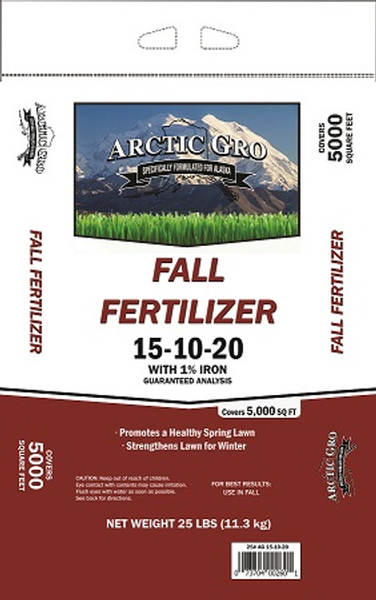 Arctic Gro Fall Fertilizer 15-10-20-1% Iron, 25lb