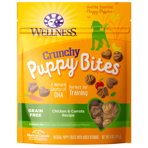 Wellness Puppy Bites Crunch Chicken & Carrots, 6oz