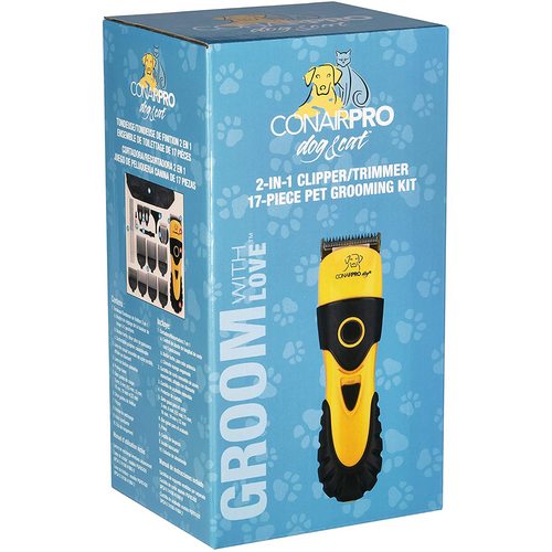 Conair Pro 2-in-1 Clipper, 17-PieceGrooming Kit
