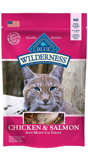 Blue Wilderness Chicken & Salmon Cat Treat, 2oz