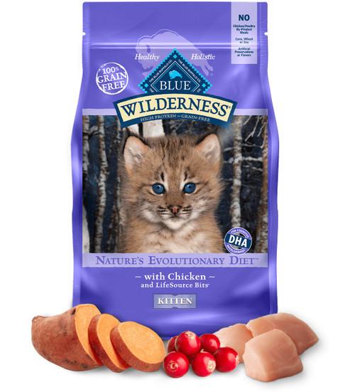 Blue Buffalo Kitten Wilderness Diet Chicken, 5lb