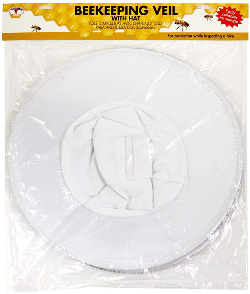 Little Giant Beekeeping Veil Protective Veil with Built-in Hat