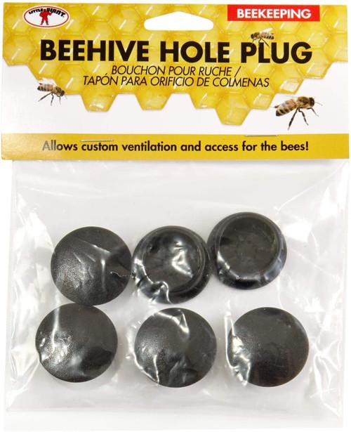 Little Giant Beehive Hole Plug Plastic Hive Hole Cover, 6pk