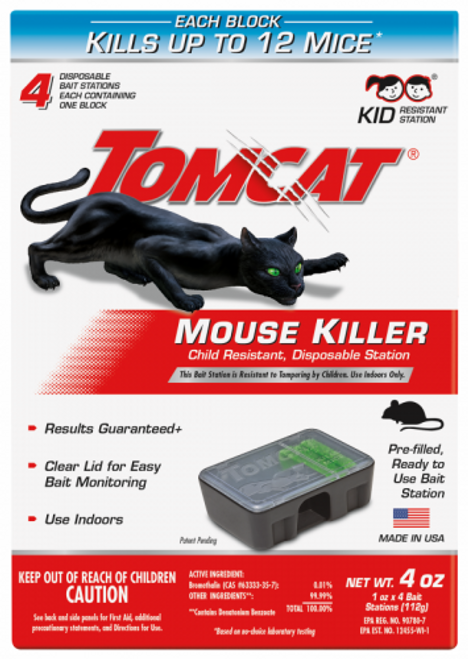 Tomcat Mouse Killer II Disposable Bait Station, 4pk