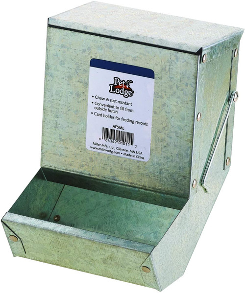 Little Giant Steel Small Animal Feeder with Lid