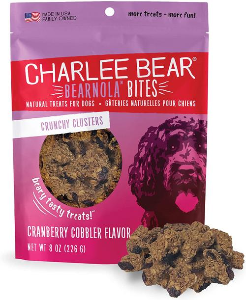 Charlee Bear Bearnola Bites Crunchy Clusters Natural Treats , Cranberry Cobbler