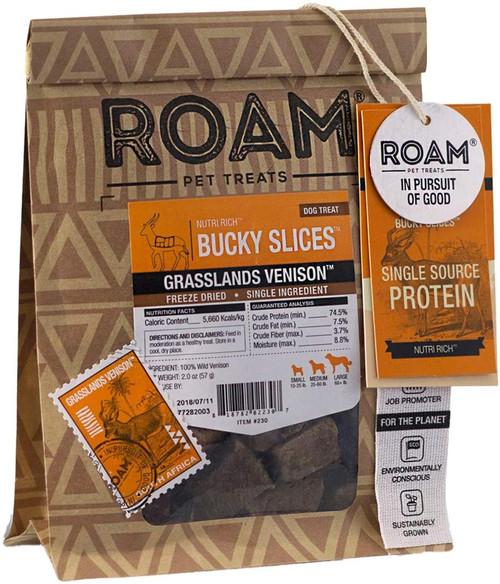Roam Pet Treats Bucky Slices Dog Treats, 2oz