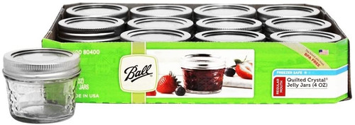 Ball Quilted 4oz Jelly Jar, 12 pack