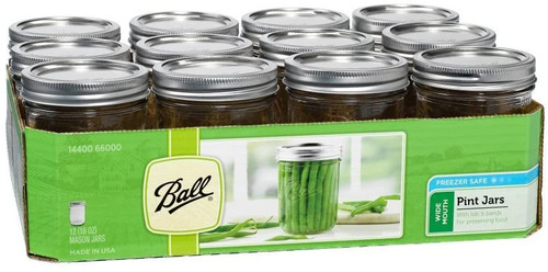 Ball Pint Wide Mouth Jar, 12 pack