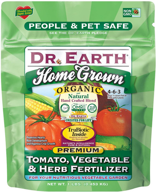 Dr. Earth Minis Home Grown Tomato, Vegetable and Herb Fertilizer, 1lb