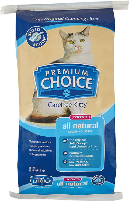Premium Choice All Natural Scoop-able Cat Litter, 25lb