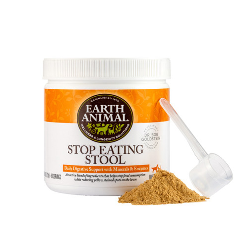 Earth Animal Stop Eating Stool Nutritional Supplement, 8oz