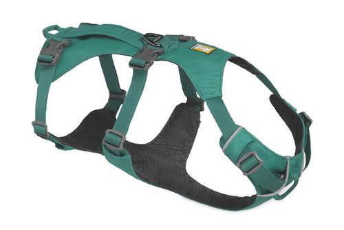 Ruffwear, Flagline Dog Harness With Handle, Meltwater Teal