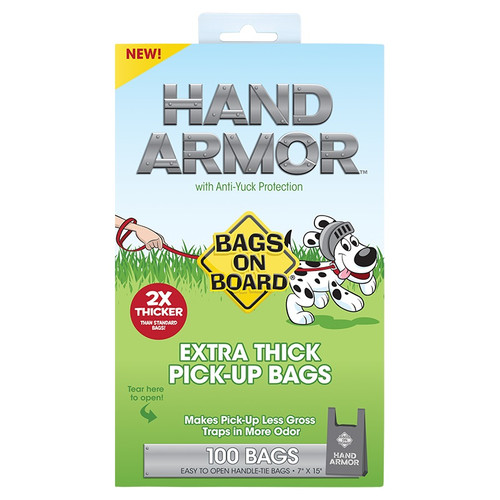 Bags On Board Hand Armor Dog Waste Bags, 100PC