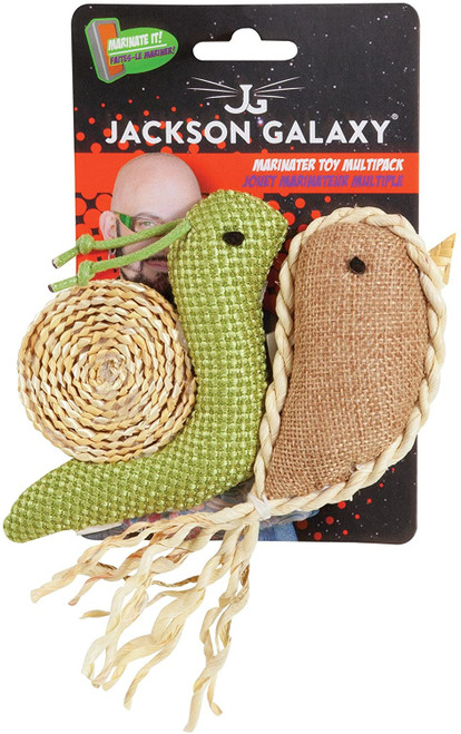 Jackson Galaxy Marinater Toy Snail and Narwhal