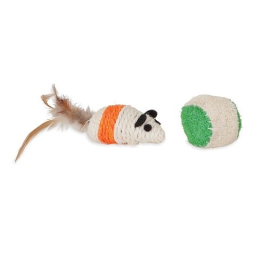 Jackson Galaxy Natural Play Time Cat Toys Mouse and Ball