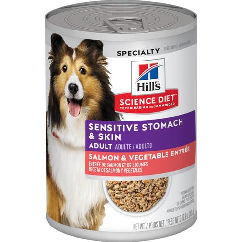 Science Diet Adult Sensitive Stomach & Skin Salmon, 12.8oz