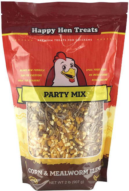 Happy Hen Treats Party Mix Mealworm and Corn, 2 Lb