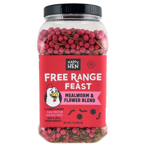 Happy Hen Treats Free Range Feast, Mealworm with Flowers