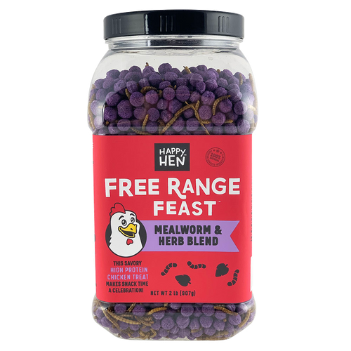 Happy Hen Treats Free Range Feast, Mealworms and Herbs