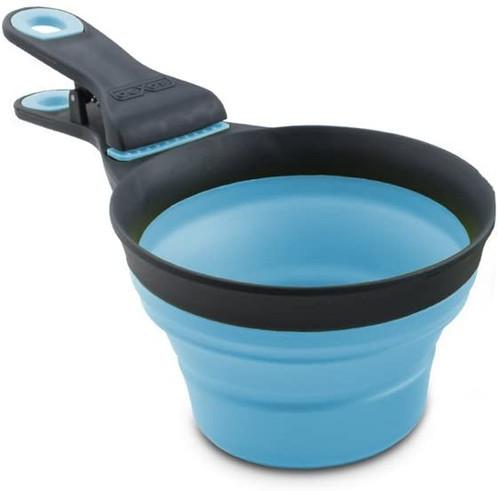 Dexas Collapsible Klipscoop, Blue