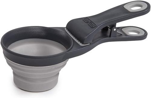 Dexas Collapsible Klipscoop, Grey