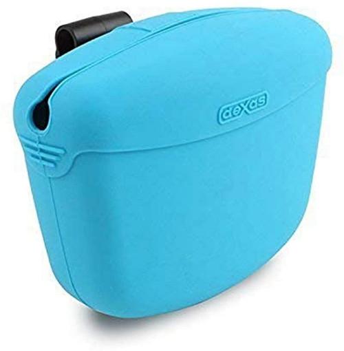 Dexas Pooch Pouch Treat Bag, Blue