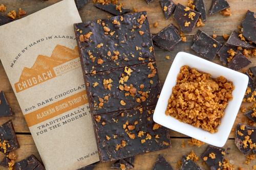 Dark Chocolate with Alaskan Birch Syrup Toffee