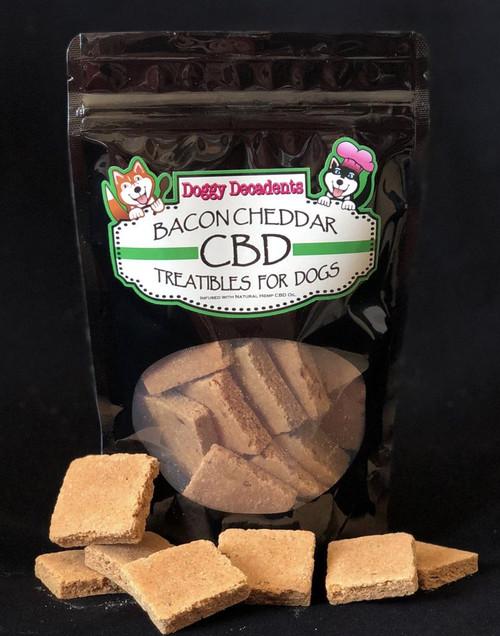 Doggy Decadents Bacon and Cheddar CBD Treats, 3mg