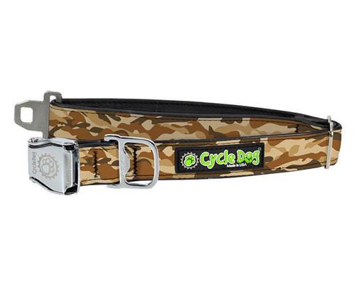 Cycle Dog Brown Camo Dog Collar
