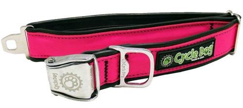 Cycle Dog Reflective Pink Dog Collar