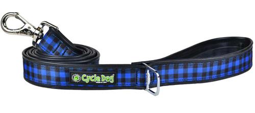 Cycle Dog Blue Plaid Leash, 6ft