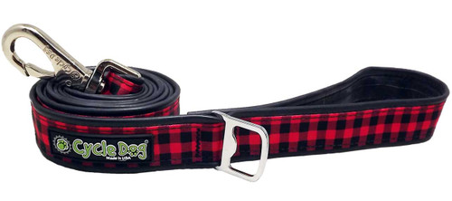 Cycle Dog Red Plaid Leash, 6ft