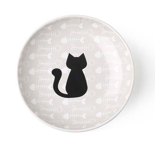 Petrageous Kitty & Fish Saucer, 5 inch