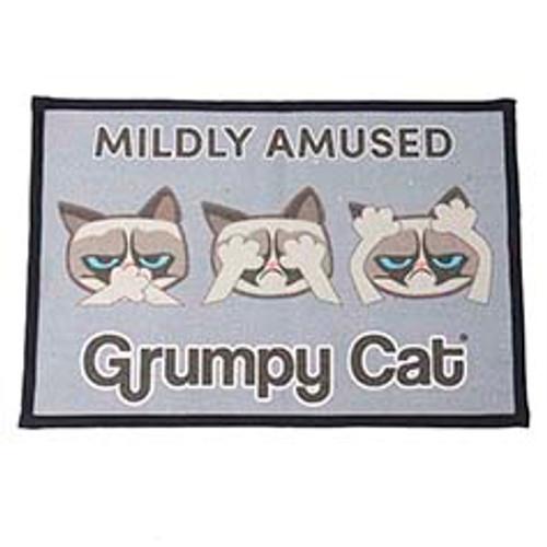 Petrageous Grumpy Cat Midly Amused Non-Slip Placemat