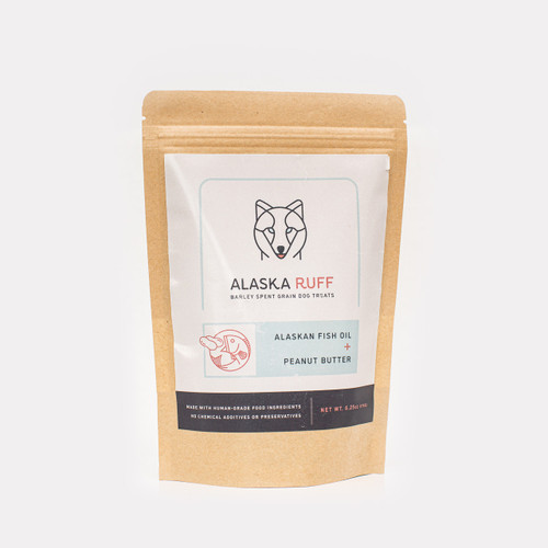 Alaska Ruff Fish Oil & Peanut Butter Dog Treat, 3oz