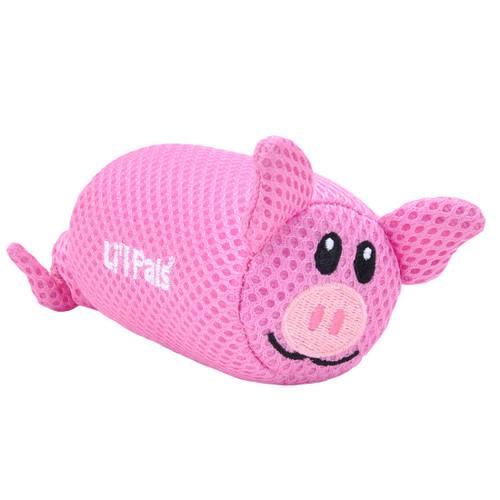 Li'l Pals Pig Mesh Dog Toy