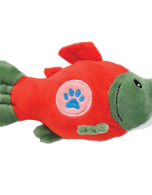 Li'l Pals Salmon Mesh Dog Toy