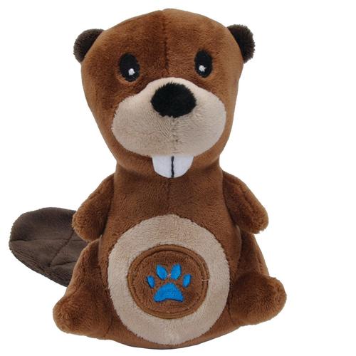 Li'l Pals Beaver Mesh Dog Toy