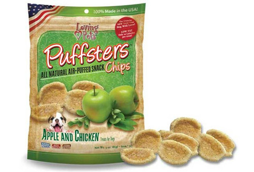 Loving Pet Puffsters Apple & Chicken, 4oz