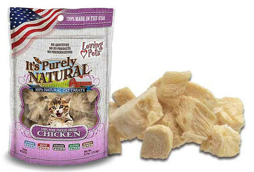 Loving Pet Pure Natural Cat Freeze-Dried Chicken, 0.6oz