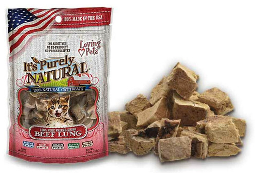 Loving Pet Pure Natural Cat Beef Lung, 0.6oz