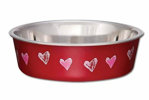 Loving Pet Bella Bowl Hearts, Extra Small