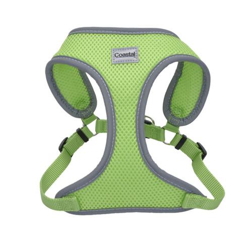 Comfort Soft Reflective Wrap Adjustable Dog Harness, Lime